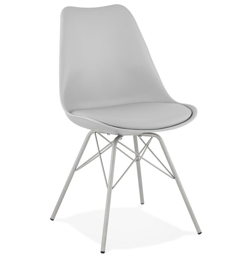 Chaise design 'BYBLOS' grise style industriel