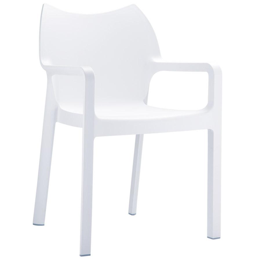 Chaise design de terrasse 'VIVA' blanche en matière plastique