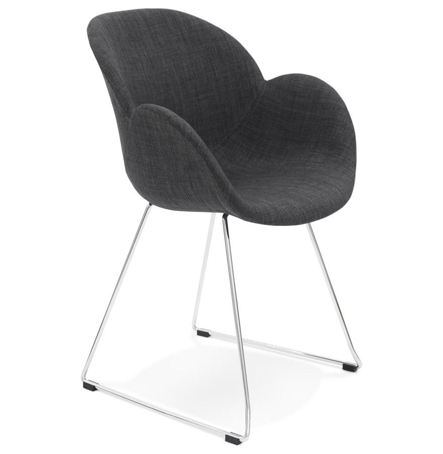 Chaise design 'JUMBO' gris foncé en tissu