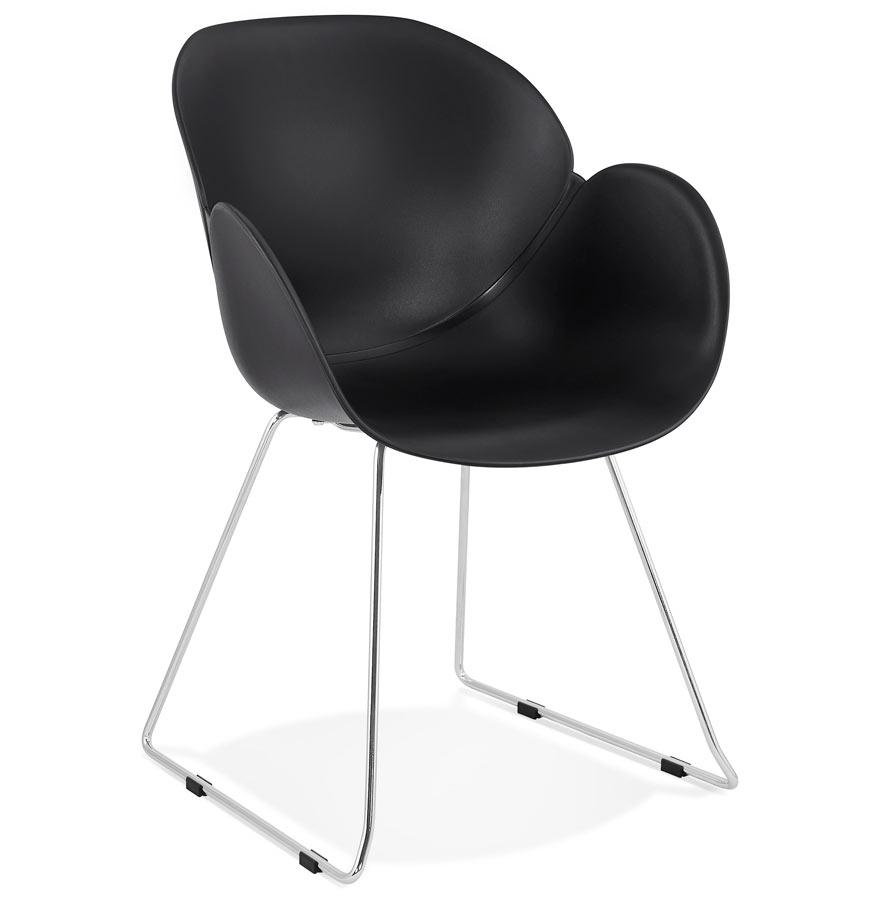 Chaise design 'NEGO' noire en matière plastique