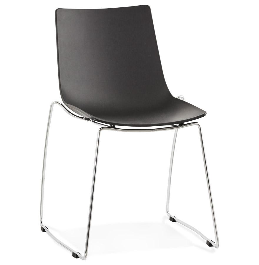 Chaise design 'TRENO' noire en matière plastique