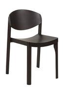 Chaise empilable Mauro / Bois - Established & Sons wengé en bois