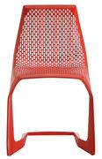 Chaise empilable Myto / Plastique - Plank rouge en matière plastique