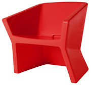 Chaise Exofa / Plastique - Slide rouge en matière plastique