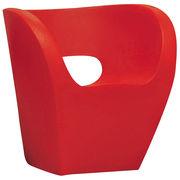 Chaise Little Albert - Moroso rouge en matière plastique