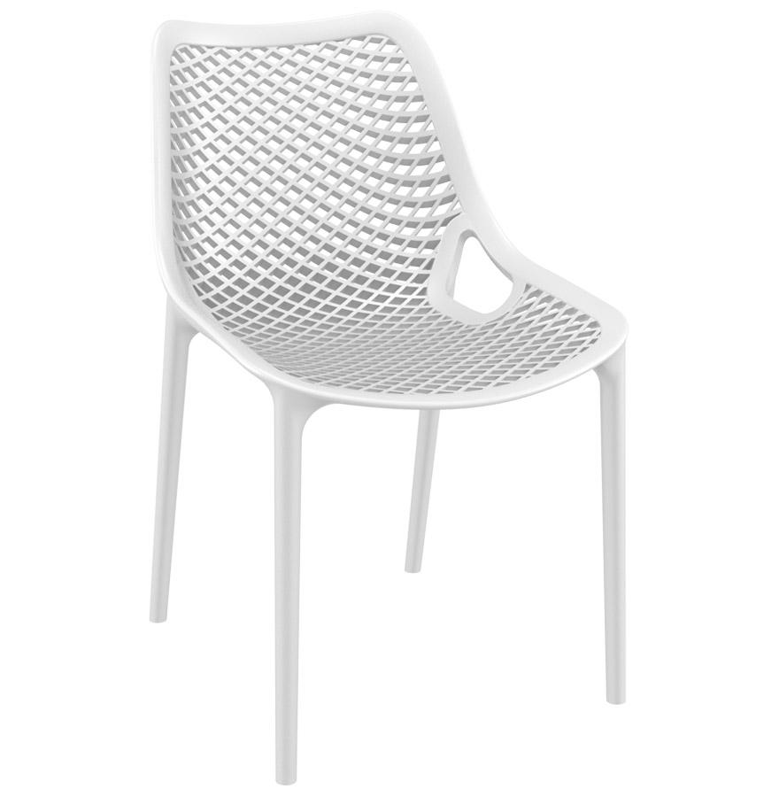 Chaise moderne 'BLOW' blanche en matière plastique