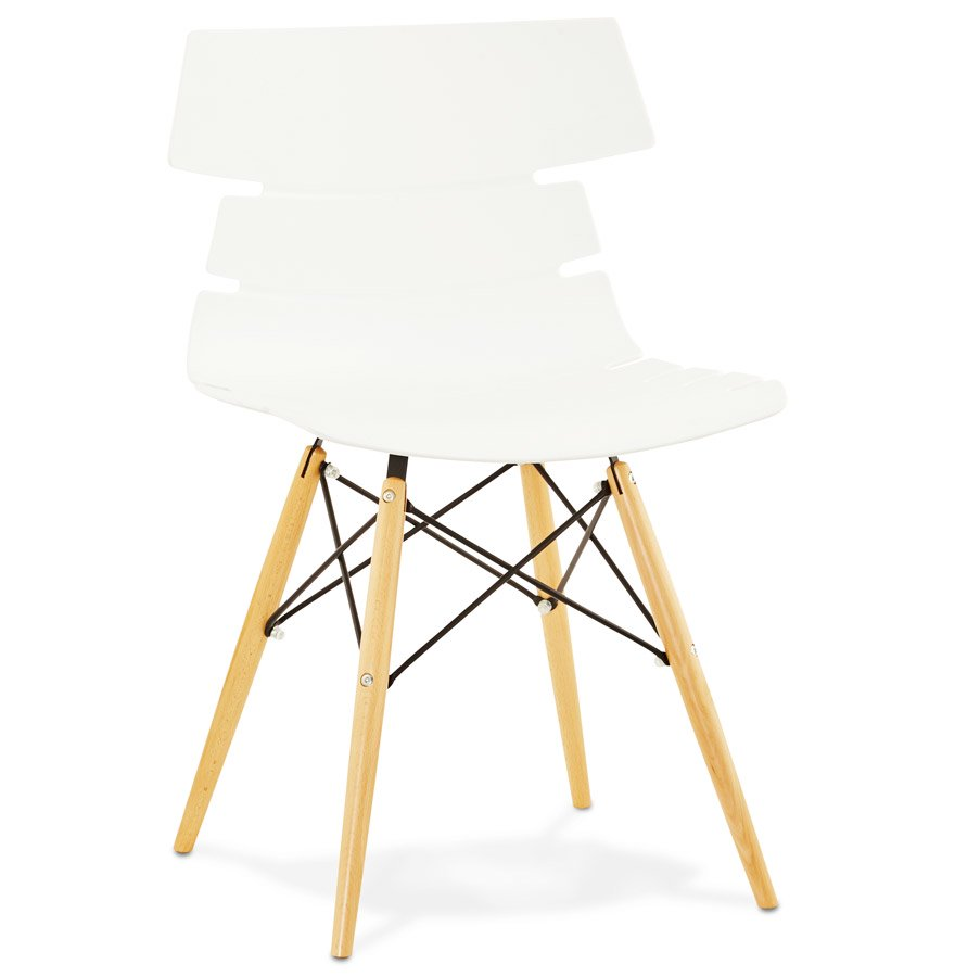 Chaise moderne 'SOFY' blanche style scandinave
