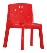 Chaise Q4 / Plastique laqué - Slide laqué rouge en matière plastique