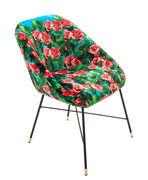 Chaise rembourrée Toiletpaper / Roses - Seletti multicolore en tissu