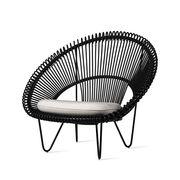 Chaise Roy Cocoon / Osier polyéthylène tressé main - Vincent Sheppard blanc,noir en matière plastique