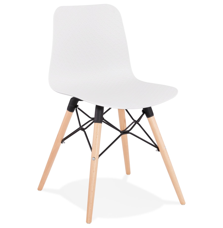 Chaise scandinave 'TONIC' blanche design