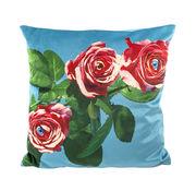 Coussin Toiletpaper / Roses - 50 x 50 cm - Seletti multicolore en tissu