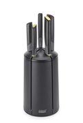 Couteau de cuisine / Lot de 5 + support rotatif - Joseph Joseph noir en matière plastique