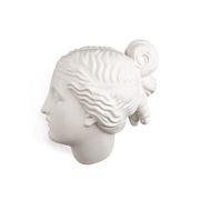Décoration Memorabilia Mvsevm / Tête femme - H 37 cm - Seletti blanc mat en céramique