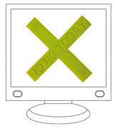 Décoration No PC Today / Croix ventouse - Domestic vert en matière plastique