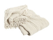 Dessus de lit Crinkle / Coton plissé - 270 x 270 cm - Hay crème en tissu