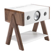 Enceinte Bluetooth Cube / Corian® - La Boîte Concept blanc,noyer en bois