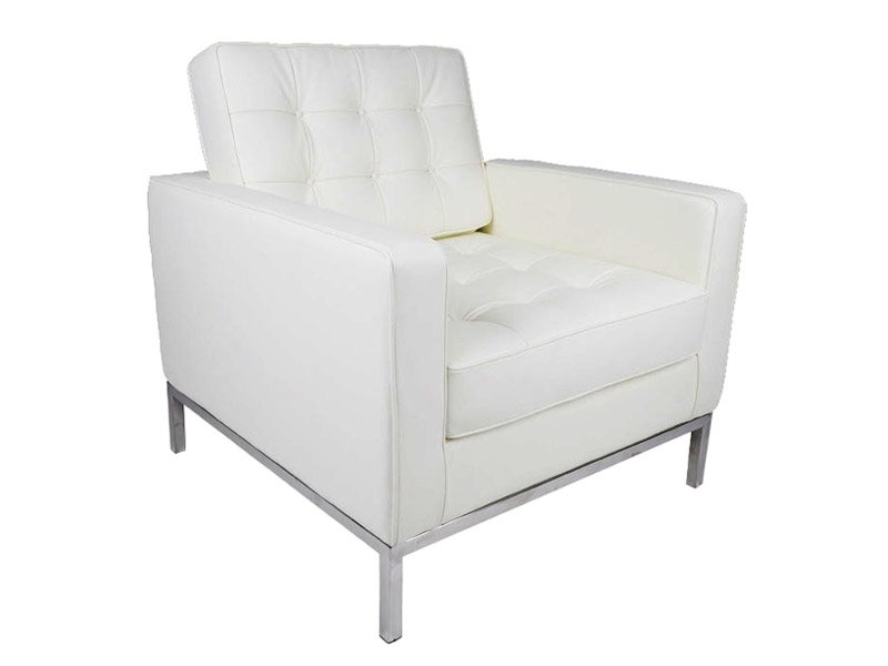 Fauteuil Lounge Knoll - Blanc