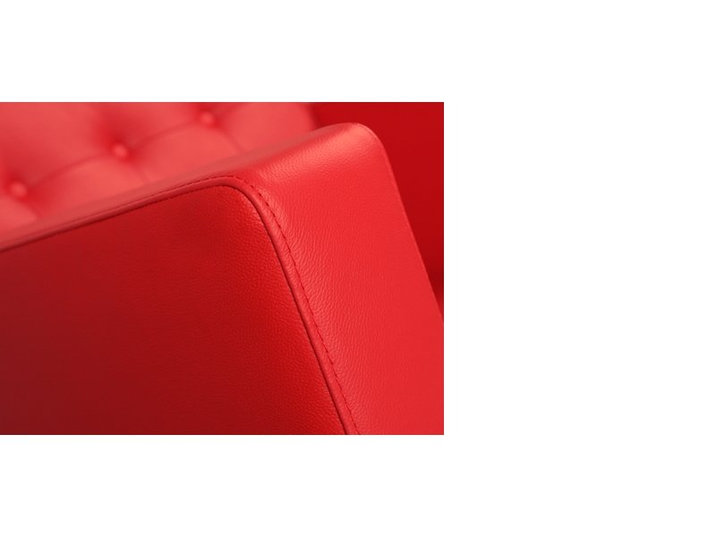 Fauteuil Lounge Knoll - Rouge