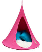 Fauteuil suspendu Bebo / Tente - Ø 120 cm - Pour enfant - Cacoon fuchsia en tissu