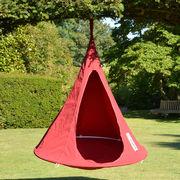 Fauteuil suspendu Bebo / Tente - Ø 120 cm - Pour enfant - Cacoon rouge en tissu