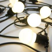 Guirlande lumineuse extérieur Bella Vista WHITE / LED - Ampoules blanches / L 14 mètres - Seletti noir,blanc opaque en matière plastique