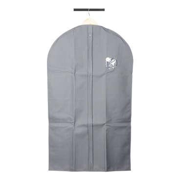 Housse de vêtement 100x60 cm coloris gris