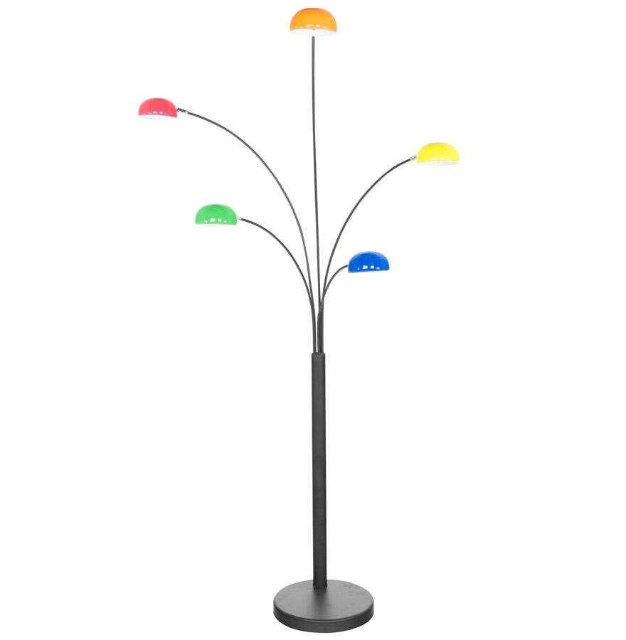Lampadaire 5 branches 'FIVE BOWS' multicouleurs
