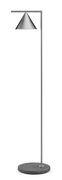 Lampadaire Captain Flint outdoor LED / H 154 cm - Orientable - Base pierre - Flos gris,acier brossé en métal