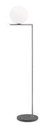 Lampadaire IC F2 Outdoor / H 185 cm - Base pierre - Flos gris,acier brossé en métal
