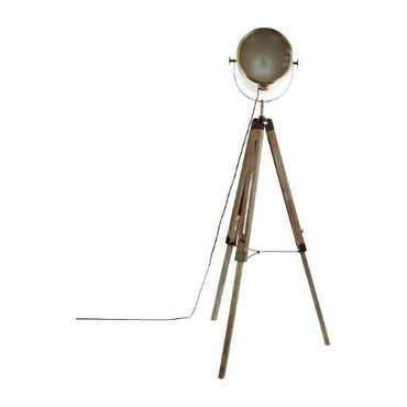 Lampadaire métal et bois 152 cm TREPIED PROJECTEUR