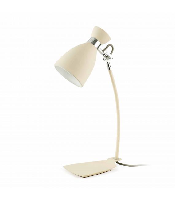 Lampe de table beige Retro 1 ampoule