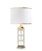 Lampe de table Berlin / H 83 cm - Jonathan Adler blanc,or,argent en métal
