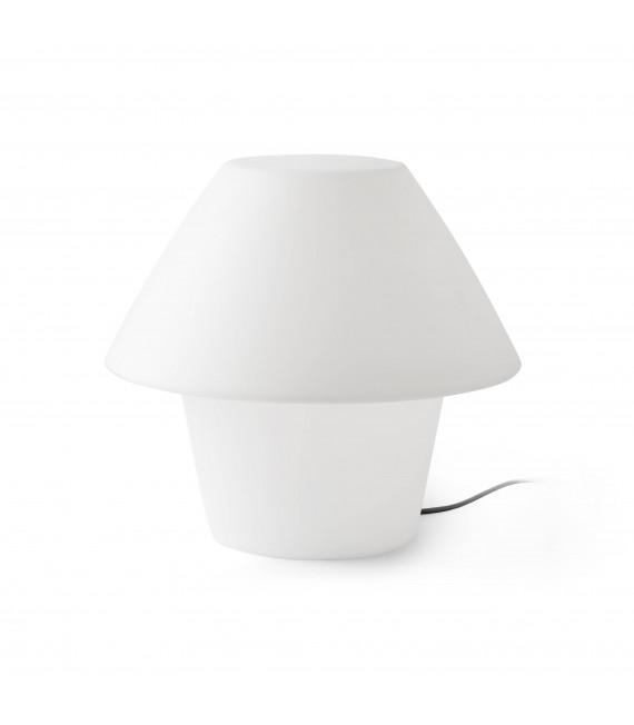 Lampe de table de jardin blanche Versus 1 ampoule