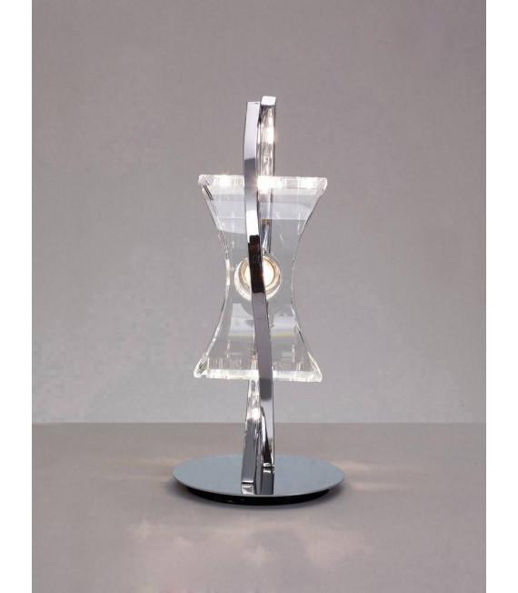 Lampe de Table Kromo 1 Ampoule G9 Looped Frame, chrome poli