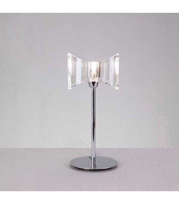 Lampe de Table Kromo 1 Ampoule G9 Sraight Frame, chrome poli