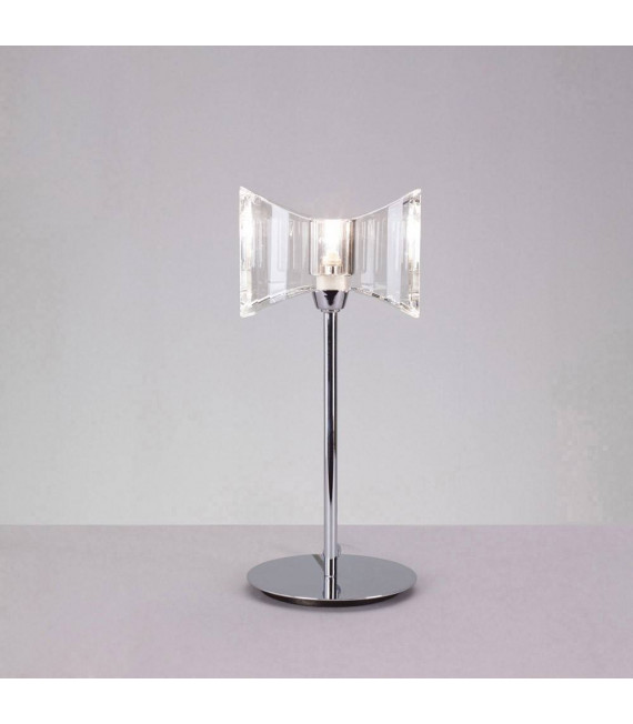 Lampe de Table Kromo 1 Ampoule G9 Sraight Frame, chrome poli