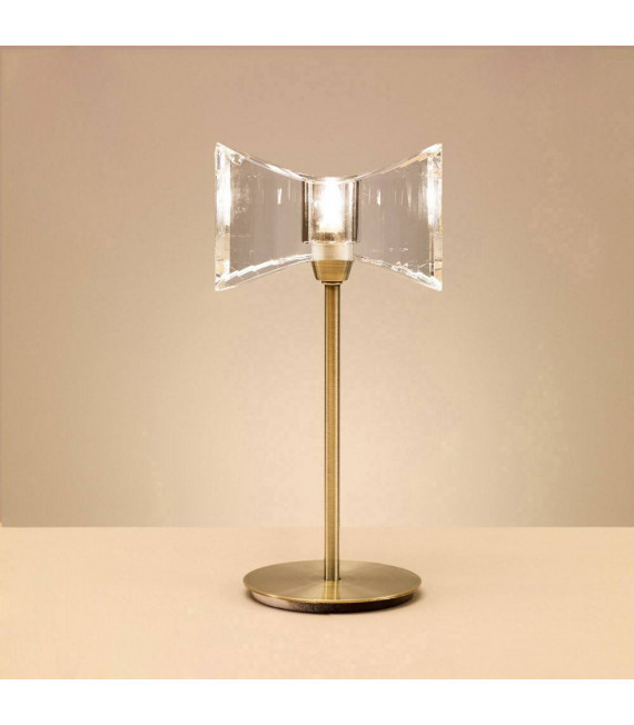 Lampe de Table Kromo 1 Ampoule G9 Sraight Frame, laiton antique