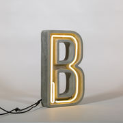 Lampe de table Néon Alphacrete / Lettre B - Intérieur / extérieur - Seletti blanc,gris en pierre