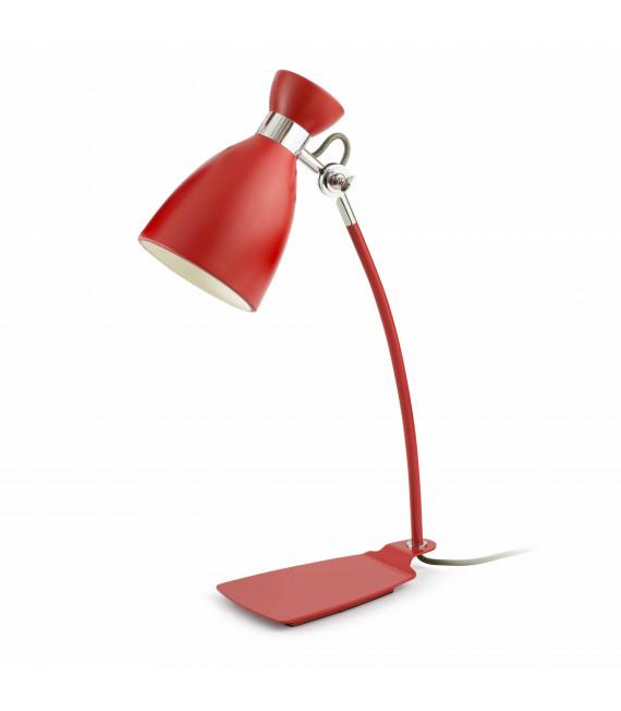 Lampe de table rouge Retro 1 ampoule