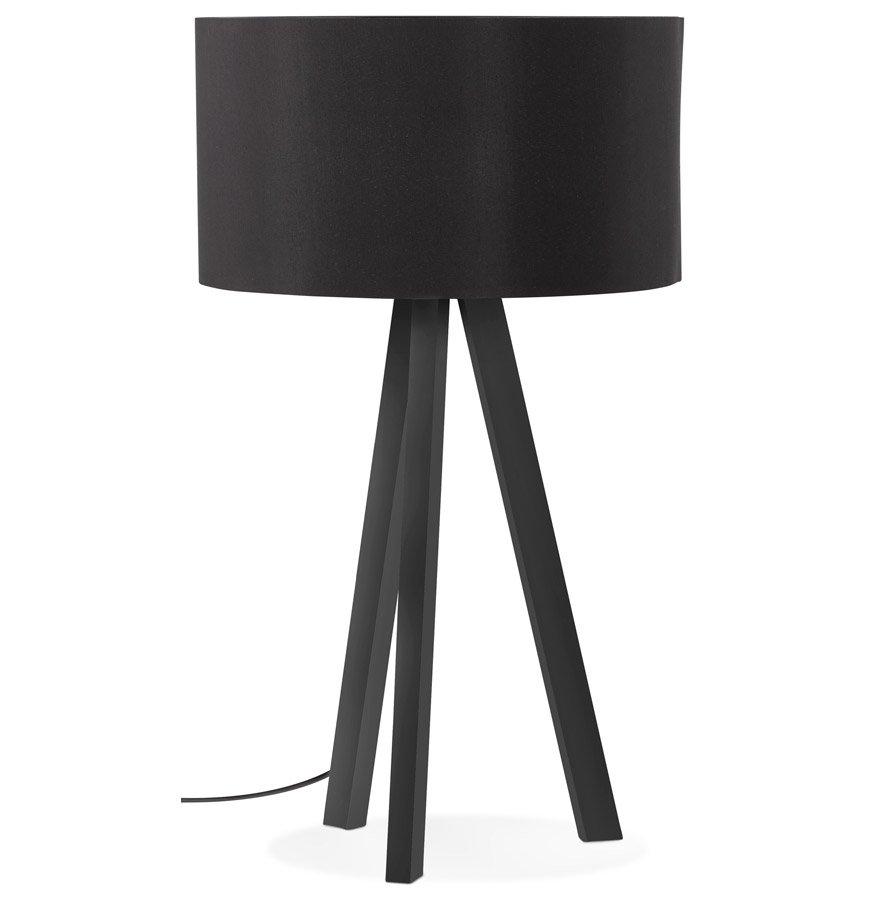 Lampe à poser design 'SPRING MINI' avec abat-jour et trépied noir