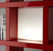 Lampe Quadro / Cube lumineux 40 x 40 cm / Pour bibliothèque - Slide blanc en matière plastique