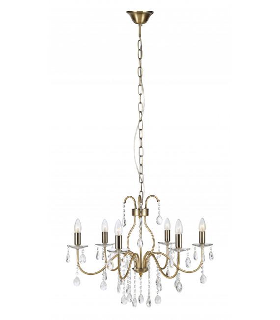 Lustre en cristal MARY antique 6 ampoules