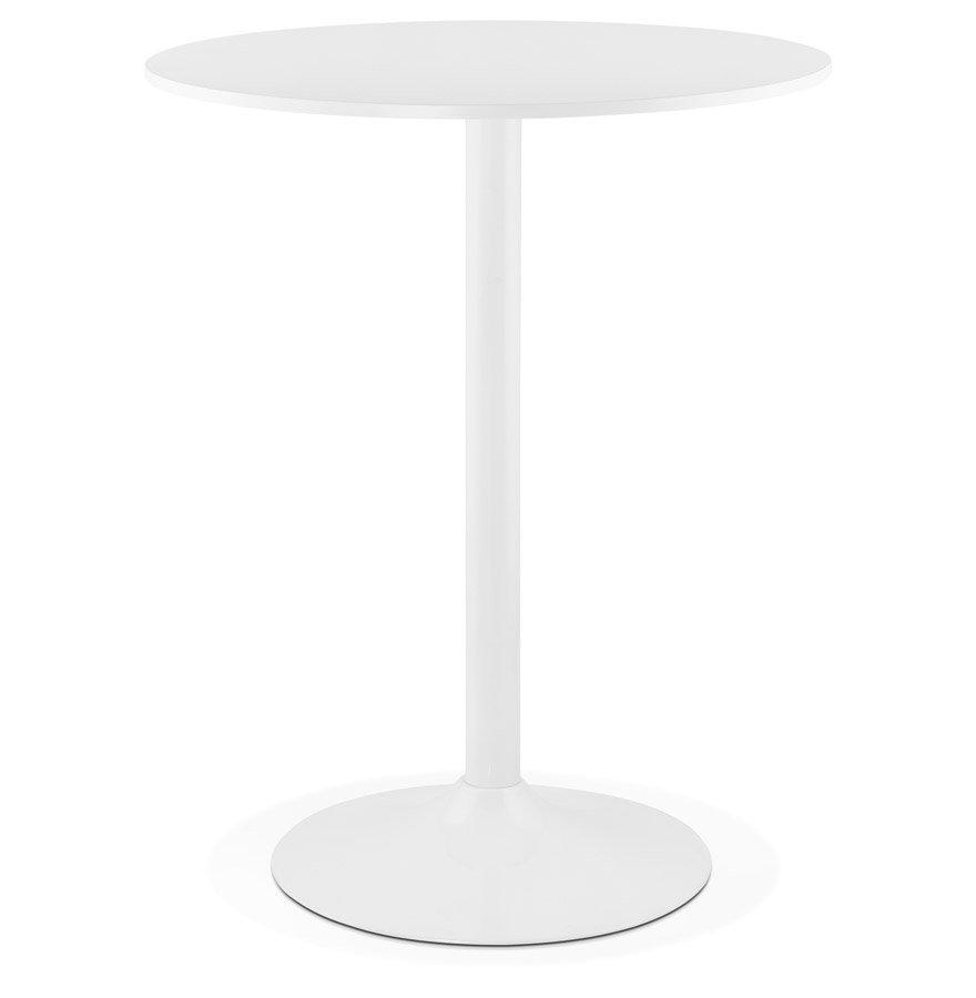 Mange-debout / table haute 'CARACAS' blanche - Ø 90 cm