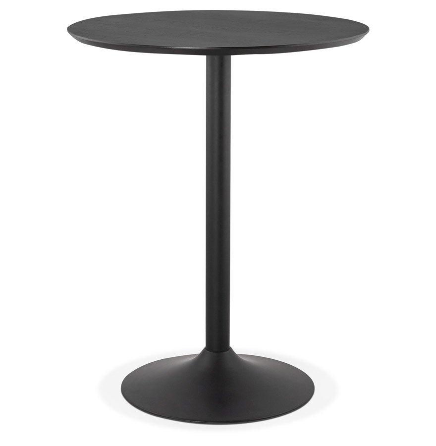 Mange-debout / table haute 'OSTERIA' noire - Ø 90 cm