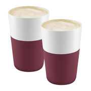 Mug Cafe Latte / Set de 2 - 360 ml - Eva Solo blanc,grenade en céramique