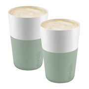 Mug Cafe Latte / Set de 2 - 360 ml - Eva Solo blanc,vert délavé en céramique