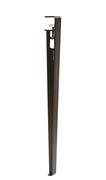 Pied avec fixation étau / H 75 cm - Pour créer table & bureau - TipToe acier patiné en métal