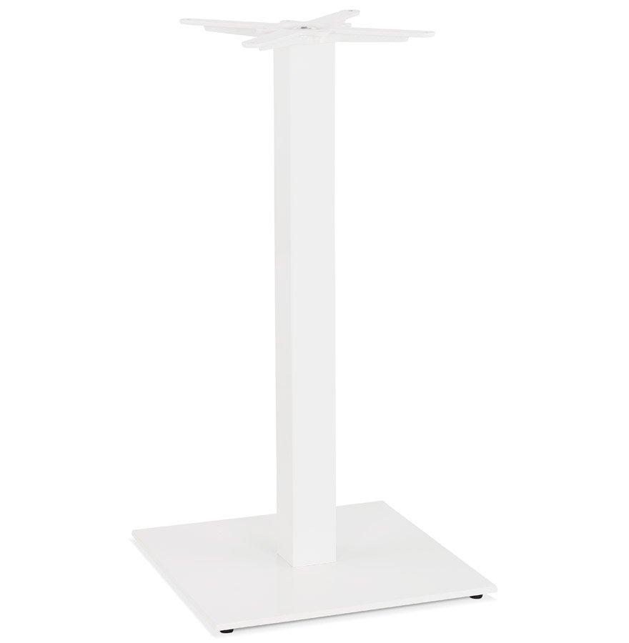 Pied de table carré 'TOWER' 110 en métal blanc intérieur/extérieur