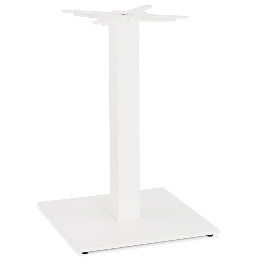 Pied de table carré 'TOWER' 75 en métal blanc intérieur/extérieur